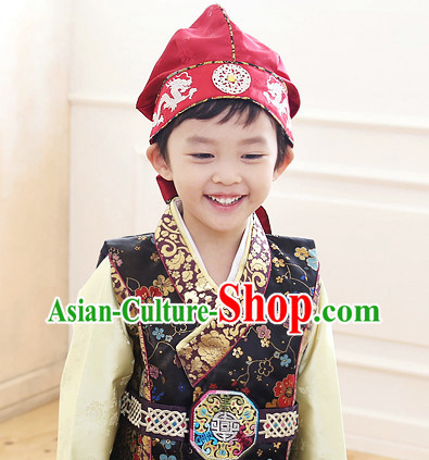 Korean Traditional Kids Hanbok Hat for Boys