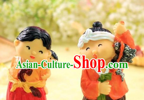 Korean Traditional Couple Statues Arts