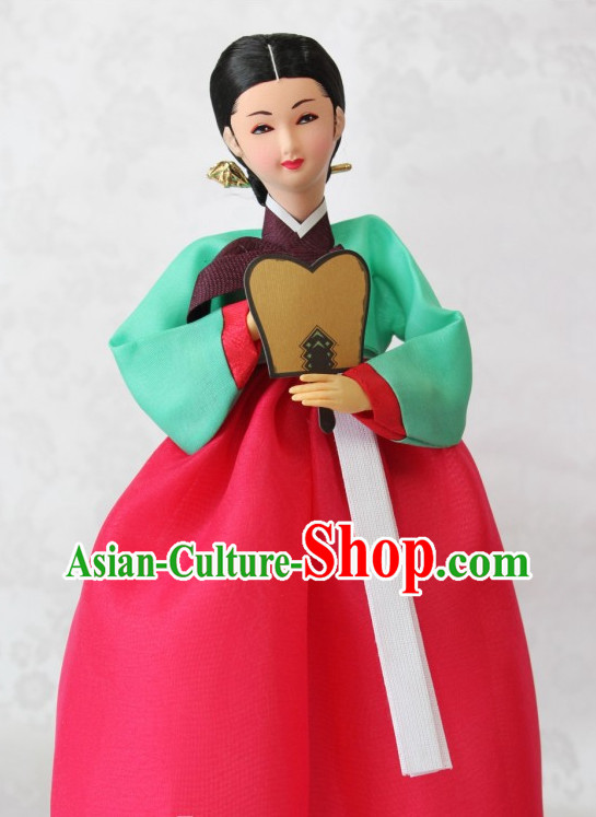 Korean Traditional Handmade Silk Figurines