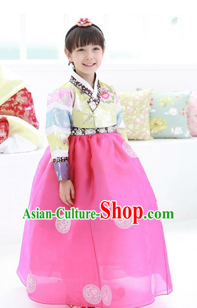 Korean Traditional Girls Hanbok Dress Ceremonial Clothing Korean Fashion Shopping online
