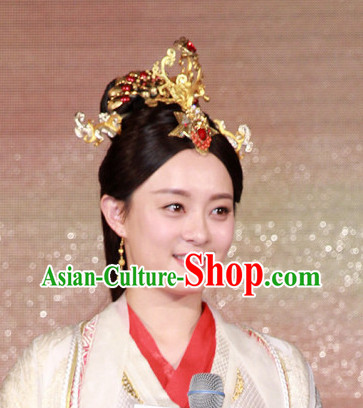 Chinese Royal Empress Hair Jewellry and Earrings