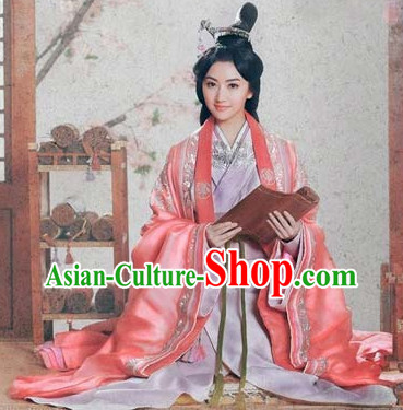 Chinese Princess Royal Costumes and Hair Accessories Complete Set