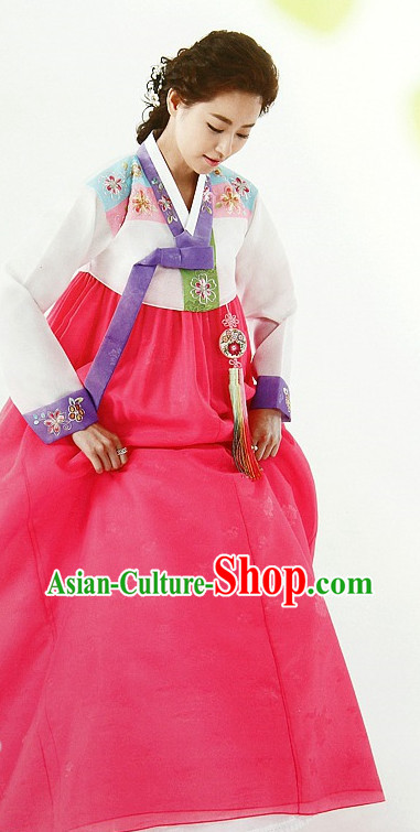 Top Korean Ceremonial Hanbok Clothing Asian Fashion Korean National Costumes