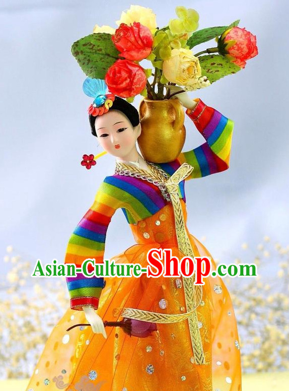 Korean Traditional Beauty Hanbok Statues Arts