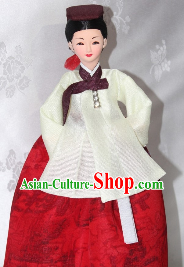 The Great Jang Geum Handmade Korean Silk Figurine