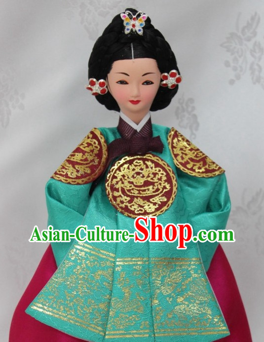 Korean Empress Silk Figurine Arts
