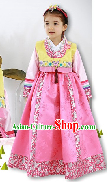 Korean Traditional Hanbok Clothing Dress online Children Clothes Designer Clothes