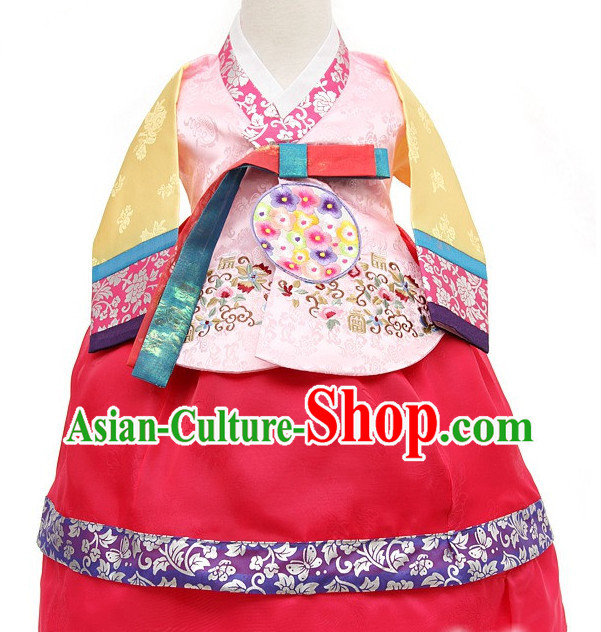 Korean Princess Traditional Birthday Hanbok Clothing Kids Clothes Designer Clothes Complete Set