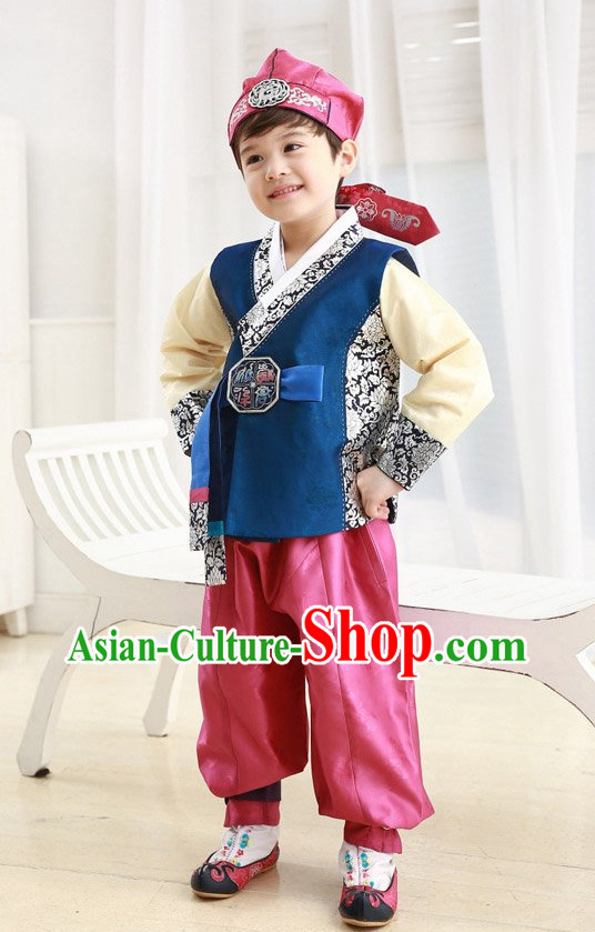 Korean Traditional Hanbok Clothing Complete Set for Children