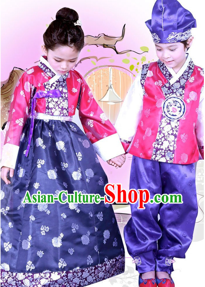 Korean Traditional Hanbok Clothing Dresses Kids Fashion Korean Products