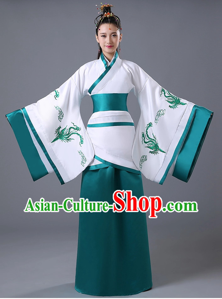Chinese Traditional National Hanfu Costumes for Women