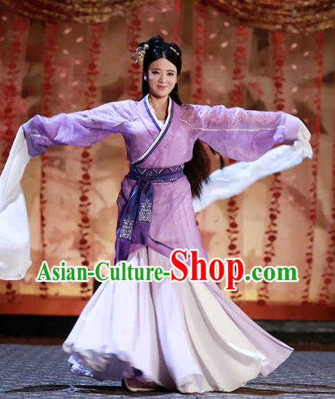 Traditional Water Sleeve Dance Costumes for Girls