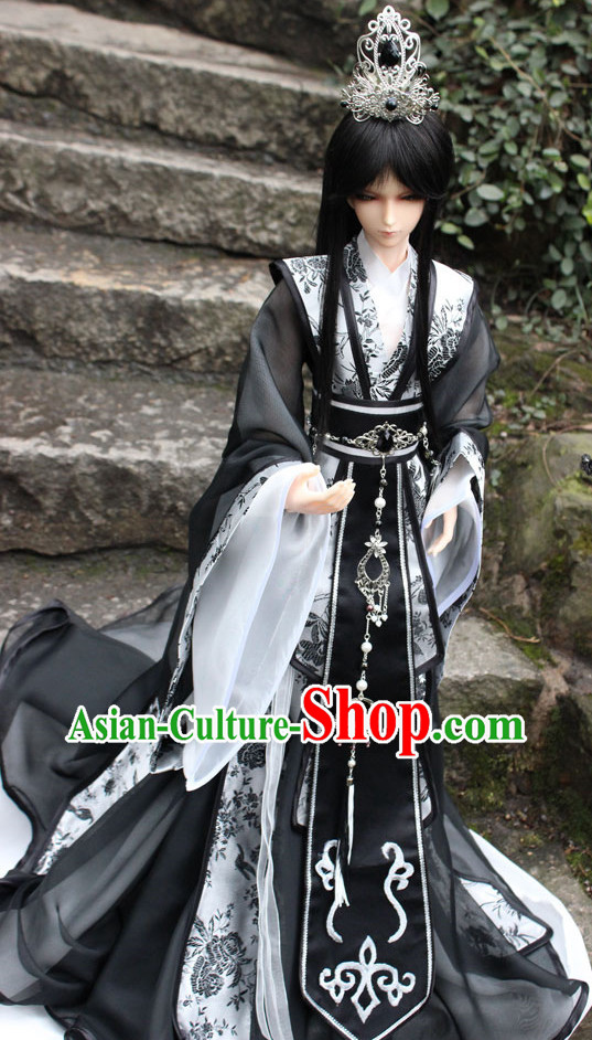 China Ancient Prince Costumes and Coronet Complete Set for Adults