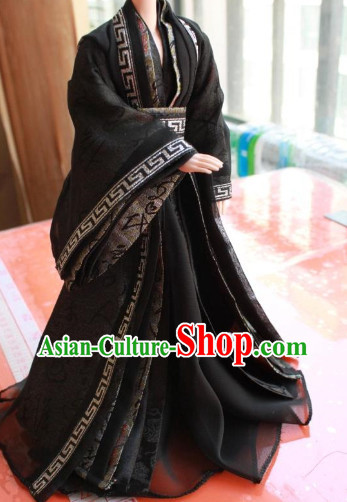Asian Halloween Costumes Black Costume for Ancient Chinese