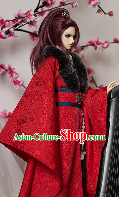 Asian Chinese Red Wedding Costumes for Men