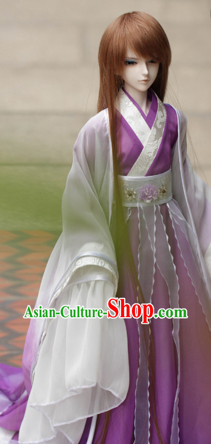 Asian Chinese Purple Wedding Costumes