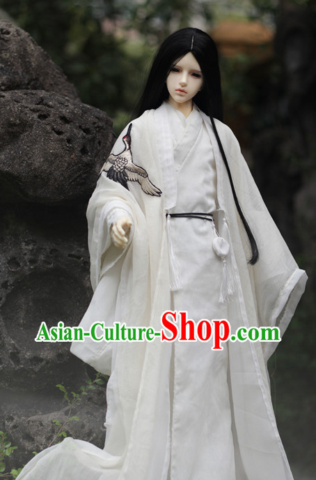 Top Chinese White Hanfu Costumes China Fashion Korean Fashion Halloween Asian Fashion for Adults