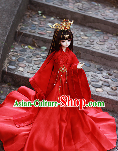 Top Chinese Red Wedding Dresses and Hair Jewelry