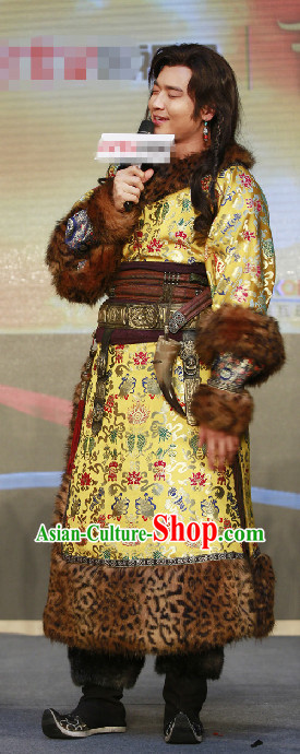 Mongolian Prince Traditional Clothing for Men