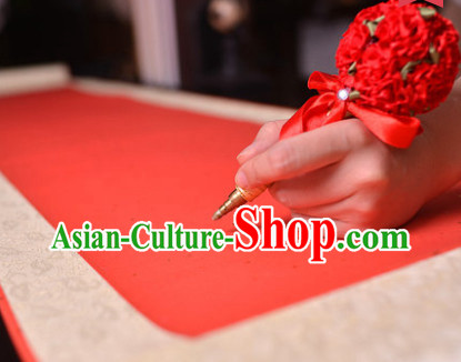 4 Meters Long Chinese Classical Wedding Guest Signatures Cloth Scroll