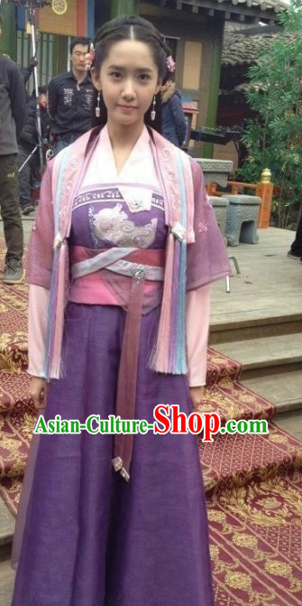 Chinese Teenager Traditional Costumes and Hair Accessories Asia Fashion Halloween Ancient China