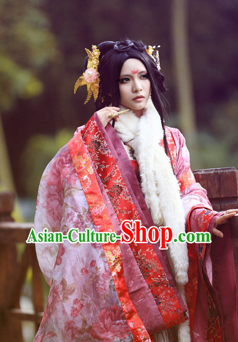 Ancient China Chinese Empress Costumes Asia Fashion Halloween