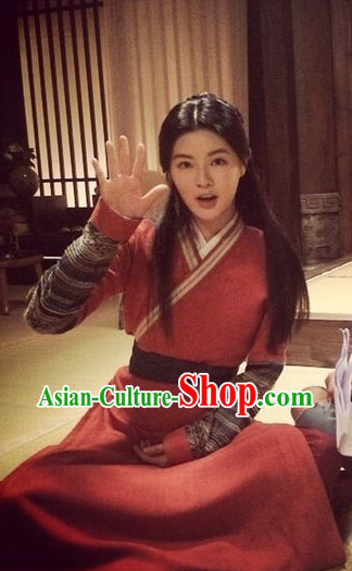 Chinese Traditional Swordswomen Clothing Complete Set for Women