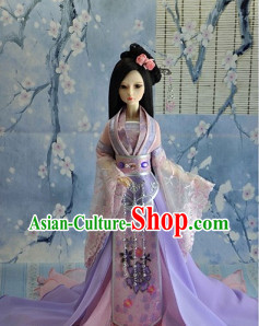 Chinese Traditional Princess Garment and Hair Accessories Complete Set for Women