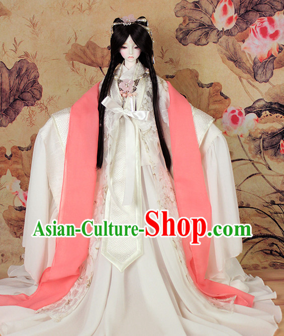 Ancient Chinese Princess Halloween Costumes and Hair Ornaments Complete Set