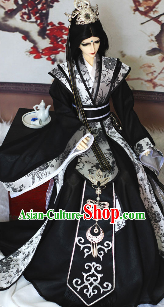 Chinese Emperor Costumes and Headwear for Adults