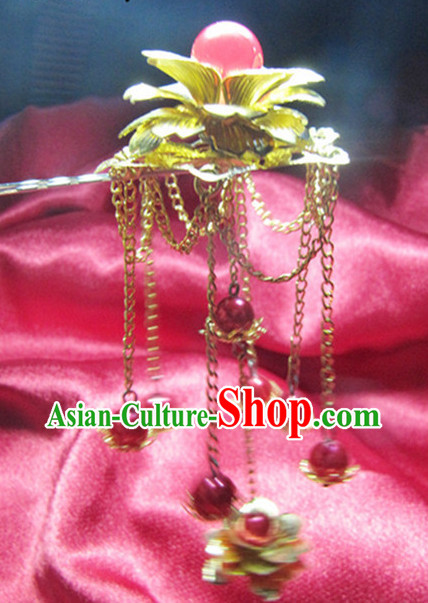 Chinese Traditional Handmade Flower Hair Clasp
