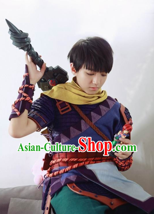 Asian Fashion Traditional Chinese Knight Costume for Men