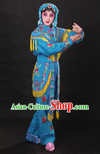 Classical China Opera Hua Dan Costumes and Hat Complete Set