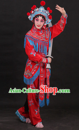 Classical China Peking Opera Hua Dan Costumes and Hat Complete Set
