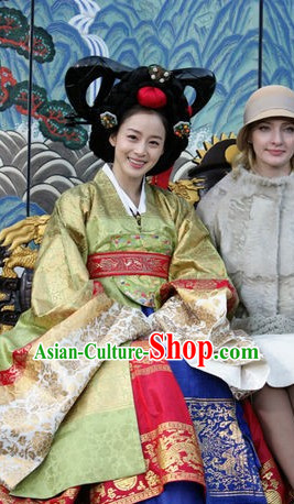 Korean Princess Hanboks Wig and Hair Accessories Complete Set