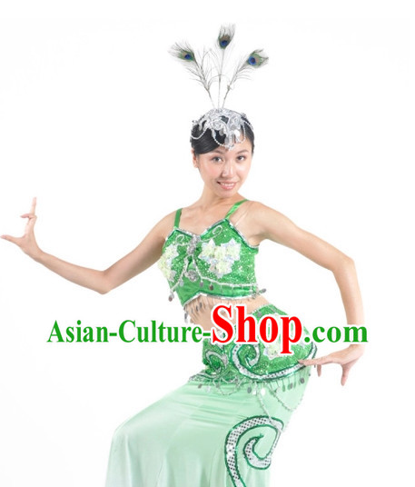 China Shop Chinese Peacock Dancing Costumes Girls Dancewear for Women