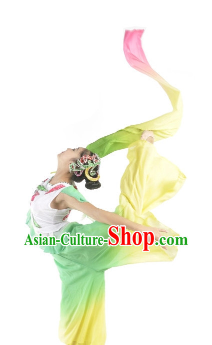 China Fan Dance Costumes Ballerina Costume Burlesque Costumes Salsa Costumes,