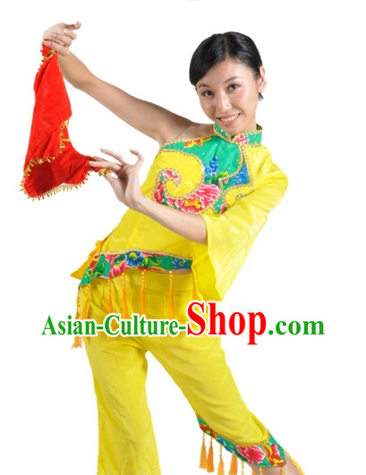 China Shop Chinese Classic Fan Dance Costumes Girls Dancewear for Women