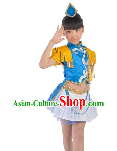Custom Made Kid Dancing Costumes Ballerina Costume Burlesque Costumes Salsa Costumes