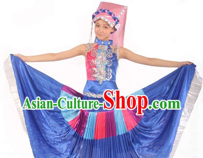 Custom Made Asian Yi Minority Clothes Complete Set for Women
