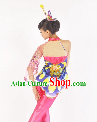 Custom Made Chinese Butterfly Dance Attire Costumes for Women