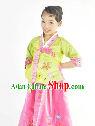 Custom Made Chinese Korean Kids Team Dance Costumes