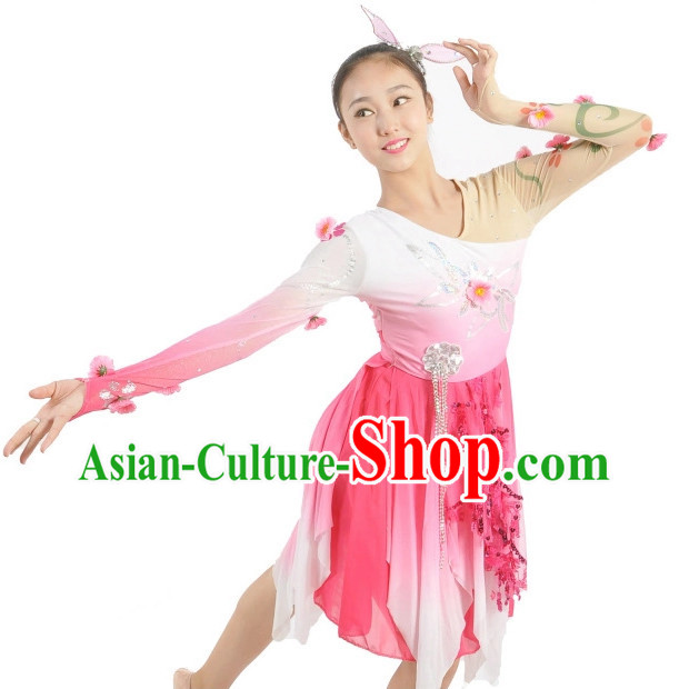 Custom Made Chinese Group Dance Costumes Team Dance Costumes for Women