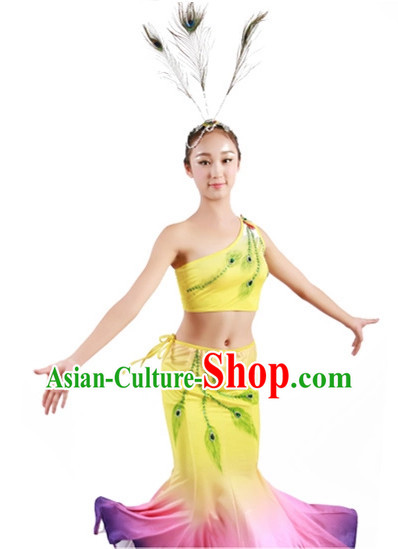 Custom Made Chinese Dai Minority Group Dance Costumes for Women