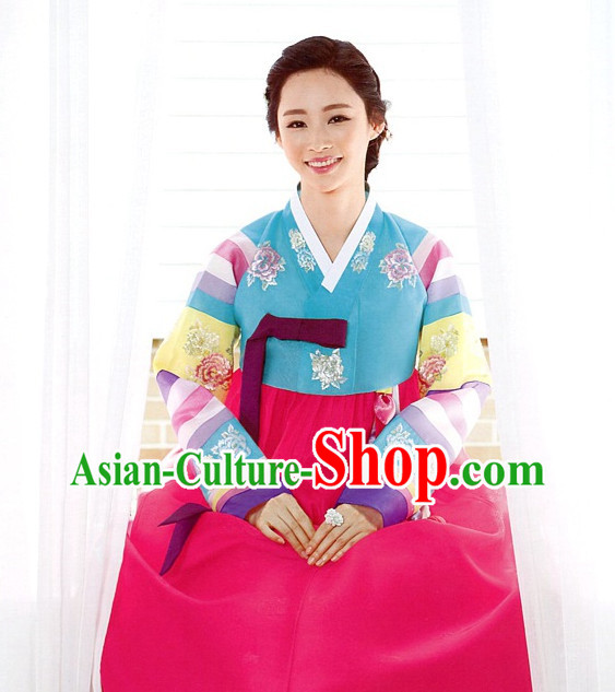 Korean Wife Formal Dresses Costumes Hanboks Complete Set
