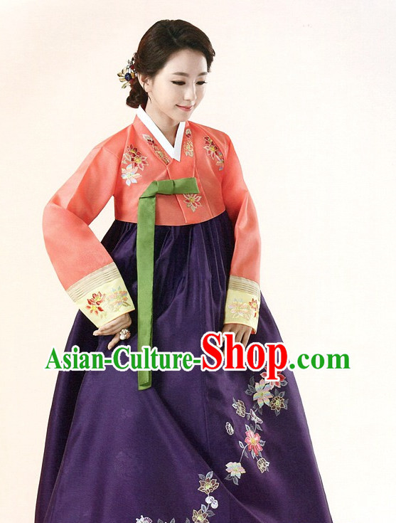 Korean Traditional Special Day Hanbok Dresses Complete Set for Ladies