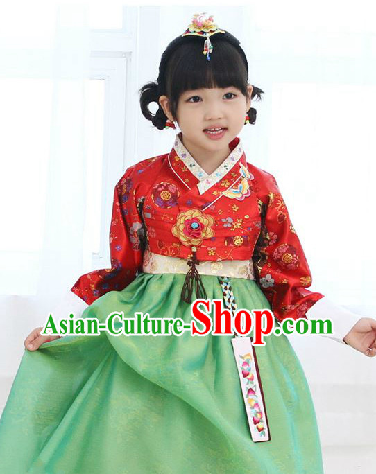 Top South Korean Children Hanbok Clothing Dresses Complete Set