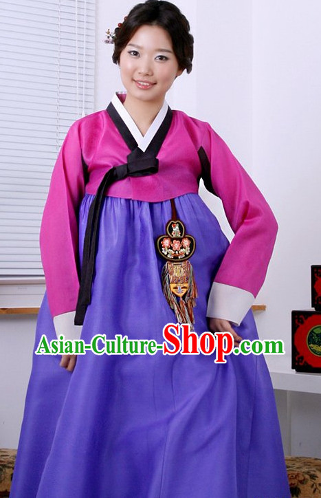 Long Sleeves South Korean Female Hanbok Complete Set