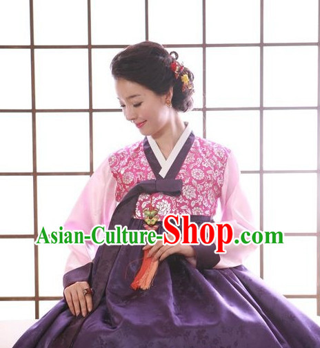 Traditional Korean Female Hanboks Outfits Complete Set