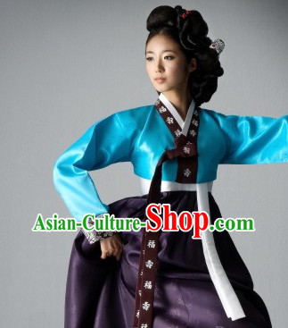 Korean Women Fashion Traditional Hanboks Costumes Complete Set